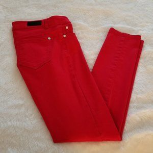 Celebrity Pink Low-Rise Skinny Red Jeans Size 3